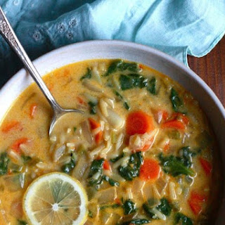 Lemon and Spinach Orzo Soup.
