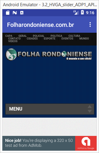Folha Rondoniense. Noticias de Rondônia e do Mundo- screenshot
