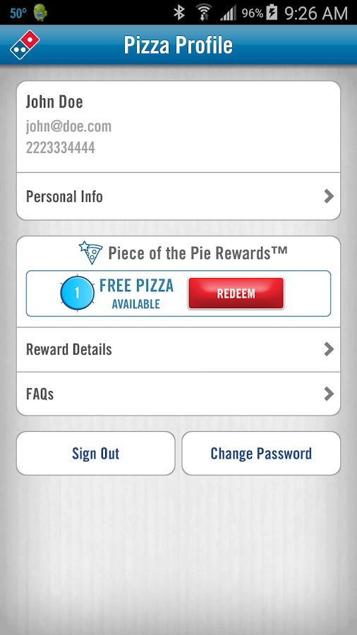 Domino's Pizza USA- screenshot