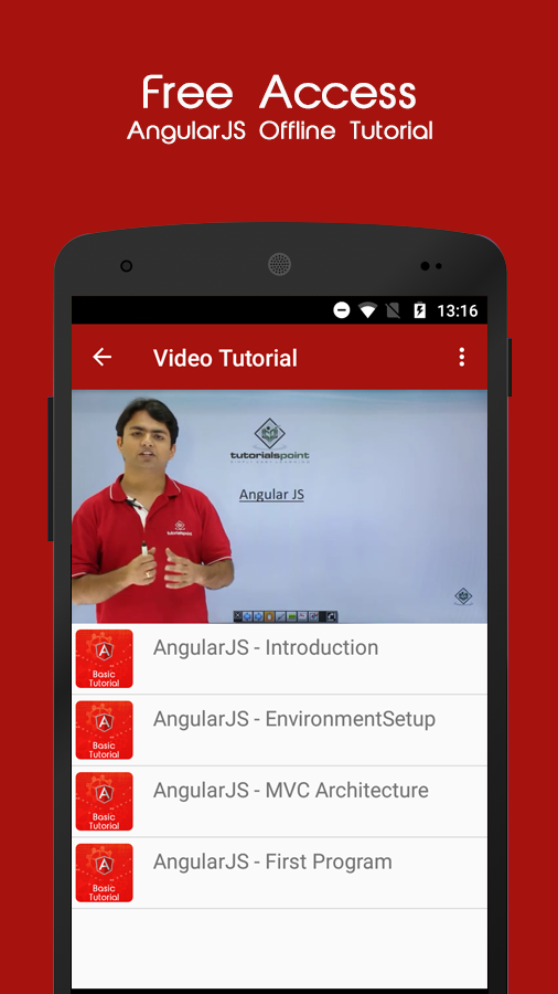 AngularJS Offline Tutorial- screenshot