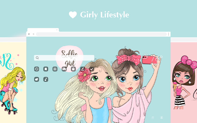 Girly Lifestyle HD Wallpapers New Tab Theme