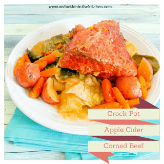 Crock Pot Apple Cider Corned Beef and Cabbage.