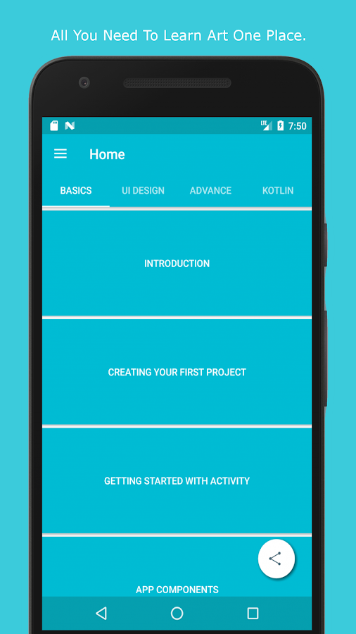 Orion : Learn Android-Tutorial for App development- screenshot