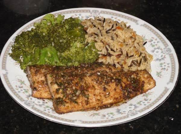 This Is The Actual Picture Of The Baked Mahi Mahi.