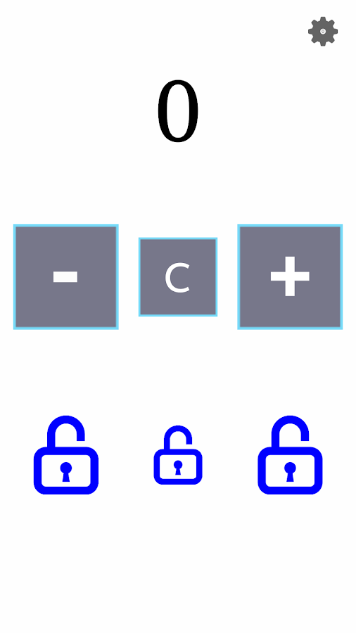 Counter with lock function- screenshot