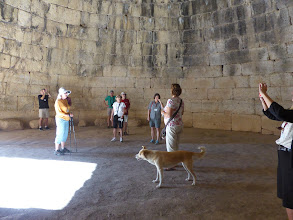 Photo: Inside the huge Tomb of Agamemnon at Mycenae.