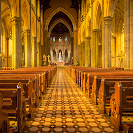 Sound of Silence by Rebecca Roy - Buildings & Architecture Places of Worship ( church, aisle, churches, worship, architecture,  )