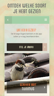 Vroege Vogels app- screenshot thumbnail