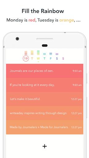 Writeaday - diário, jornal Apps (apk) baixar gratuito para Android/PC/Windows screenshot