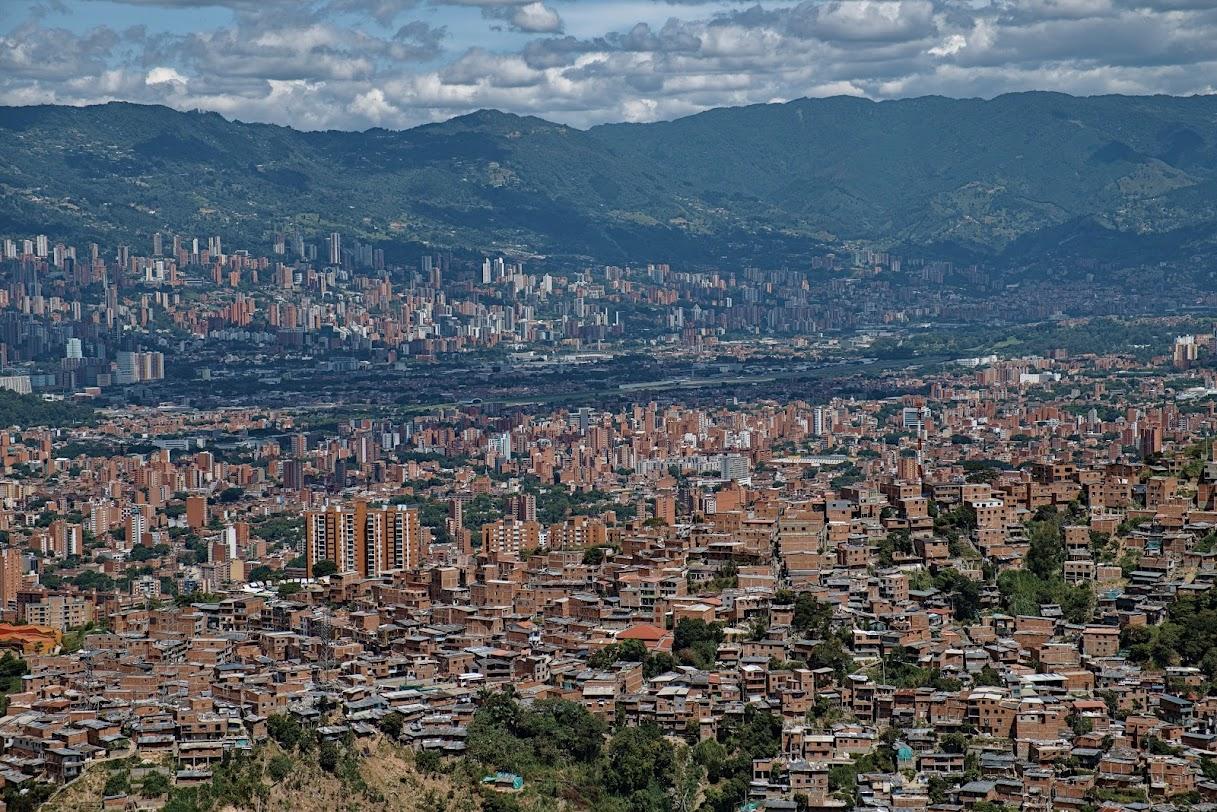 Widok na Medellin