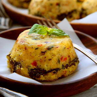Corn Pudding Stuffed with Greens