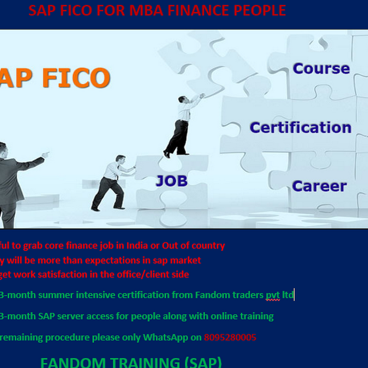 FANDOM TRAINING (SAP) - We are providing SAP training last 5 years