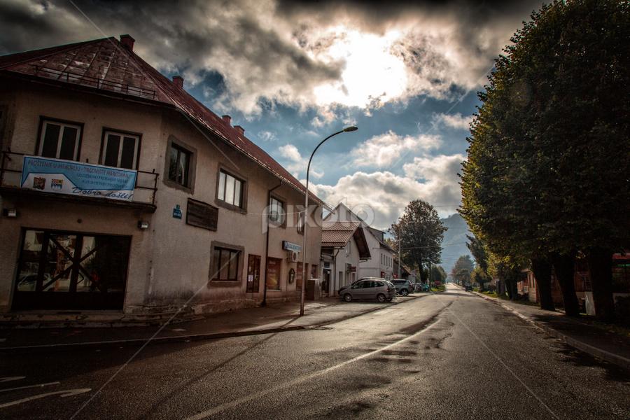 Mountain village Mrkopalj in the morning by Stanislav Horacek - City,  Street & Park  Street Scenes