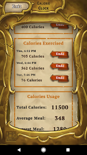 Calorie Clock - Weight Loss- screenshot thumbnail