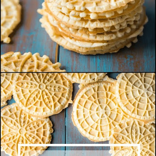 Thin and Crisp Pizzelles.