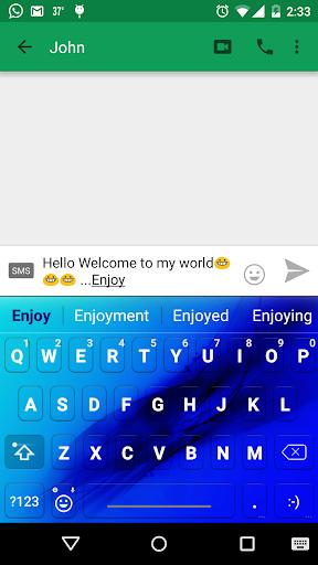 Light Blue Emoji keyboard