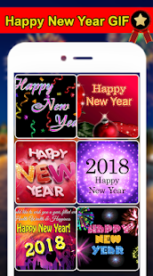 Happy New Year GIF 2018 - Unique New Year GIF - náhled