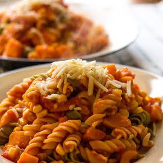Habanero Sweet Potato Pasta.