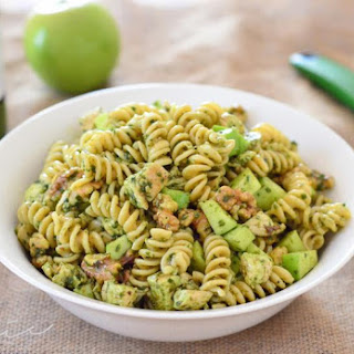 Pesto Chicken Pasta with Apple & Walnuts