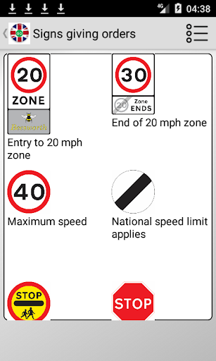 Road signs (Traffic Signs) United Kingdom  screenshots 3