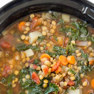 Crock Pot Vegetable Lentil Soup.