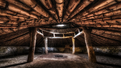Photo: Miwok Roundhouse Amador, CA. 2012.  A restored and still-in-use Miwok ceremonial roundhouse at Indian Grind Rock State Historical Park in Amador County, California.  +Karen Huttonand I had spent the day in gold country, near the town of Volcano, looking for shooting opportunities, and towards the end of the day we visited Indian Grind Rock State Park, we had the park basically to ourselves minus a few campers in the overnight area, and when we found the ceremonial roundhouse, we knew we'd finally found photographic gold.  For more info about the Miwok: http://www.sierrafoothillmagazine.com/natives.html  The park has some reconstructed Miwok structures, and a museum that was closed by the time we arrived, more info at the California state park website:http://www.parks.ca.gov/?page_id=553