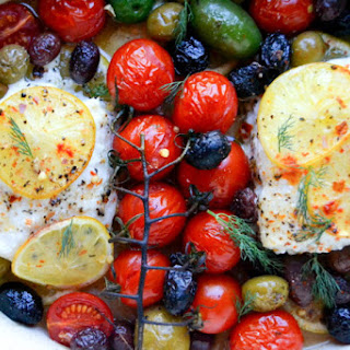 Simple Greek Style Baked Fish.