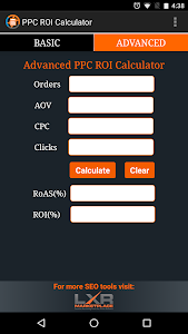 PPC ROI Calculator screenshot 1