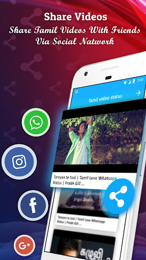 Tamil Video Songs Status For whatsapp 2.5 screenshots 1