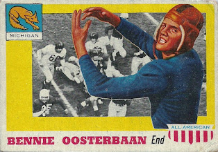 Photo: Bennie Oosterbaan 1955 Topps All American RC