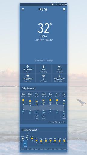 天氣必備免費app推薦|Blue Sky - Best Weather Widget線上免付費app下載|3C達人阿輝的APP