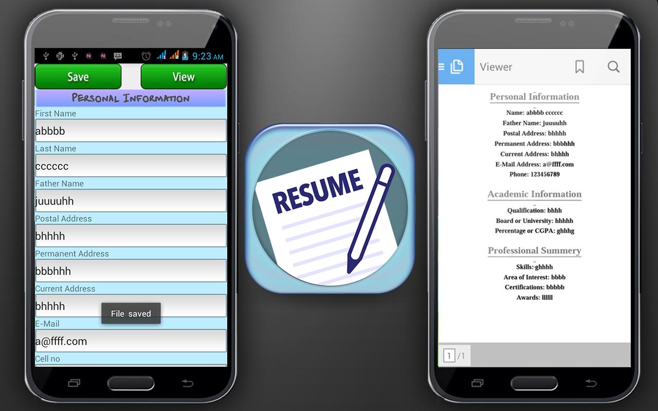Screenshots of Curriculum Vitae Maker for iPhone