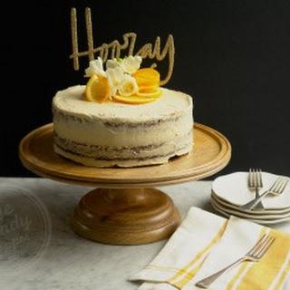 Boozy Orange Chocolate Naked Cake (gluten-free, dairy-free, low sugar, vegan option).