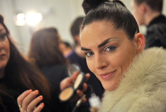 Photo: NEW YORK, NY - FEBRUARY 12:  Model Hilary Rhoda backstage at the Zac Posen Fall 2012 fashion show during Mercedes-Benz Fashion Week at the David Koch Theatre at Lincoln Center on February 12, 2012 in New York City.  (Photo by Henry S. Dziekan III/WireImage)