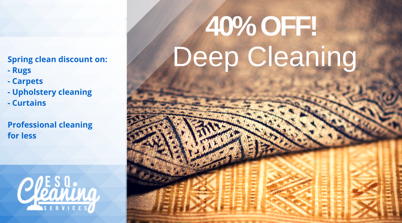 ESQ Cleaning 40% off deep cleaning