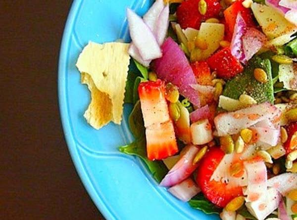 Strawberry + Spinach Salad Recipe