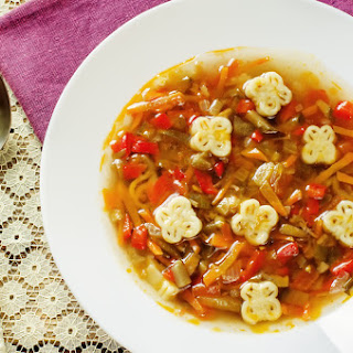 Ratatouille Soup with Eggplant and Peppers