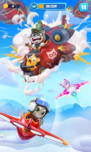 Talking Tom Sky Run: The Fun New Flying Game apktram screenshots 1