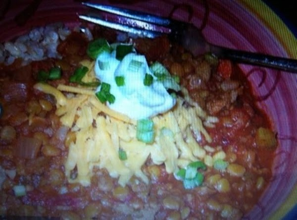 Chili may be served over hot, cooked rice of your choice, toppings of your...