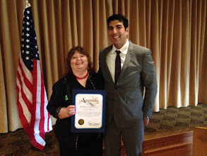 Photo: Cynthia Andrachick with Assemblymember Matt Dababneh