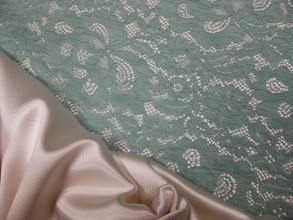 Photo: Кружево ш.0,96см.цена 5000руб.Solstiss         Ткань :Крепсатен шелк с шерстью ш.140см.цена 5500руб.                          Коллекция Armani