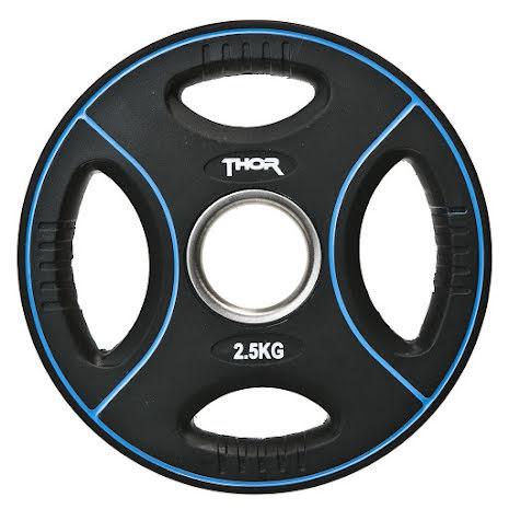 Thor Fitness Svart Viktskiva Polyrethan - 2,5kg