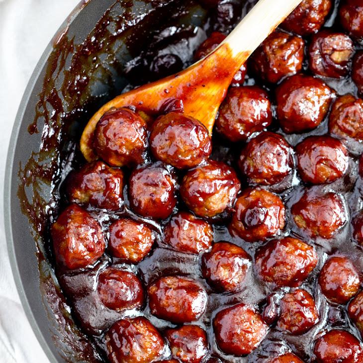 Spicy Cranberry Barbecue Meatballs Recipe