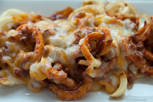 Curly Fries With Cheese