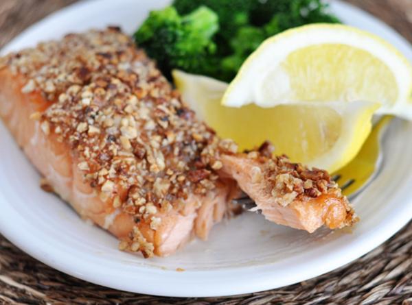 Mel's Maple Pecan Crusted Salmon Recipe