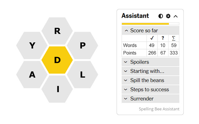 Spelling Bee Assistant