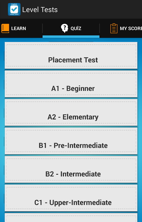 English Level Tests A1 to C2- screenshot