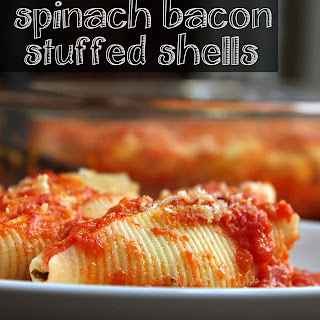 Spinach + Bacon Stuffed Shells