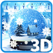 Live Snow Crystal Globe Keyboard Theme