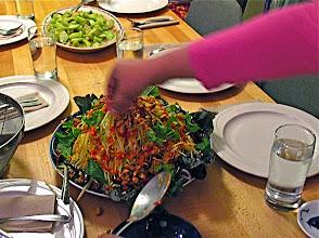 Photo: finishing catfish salad